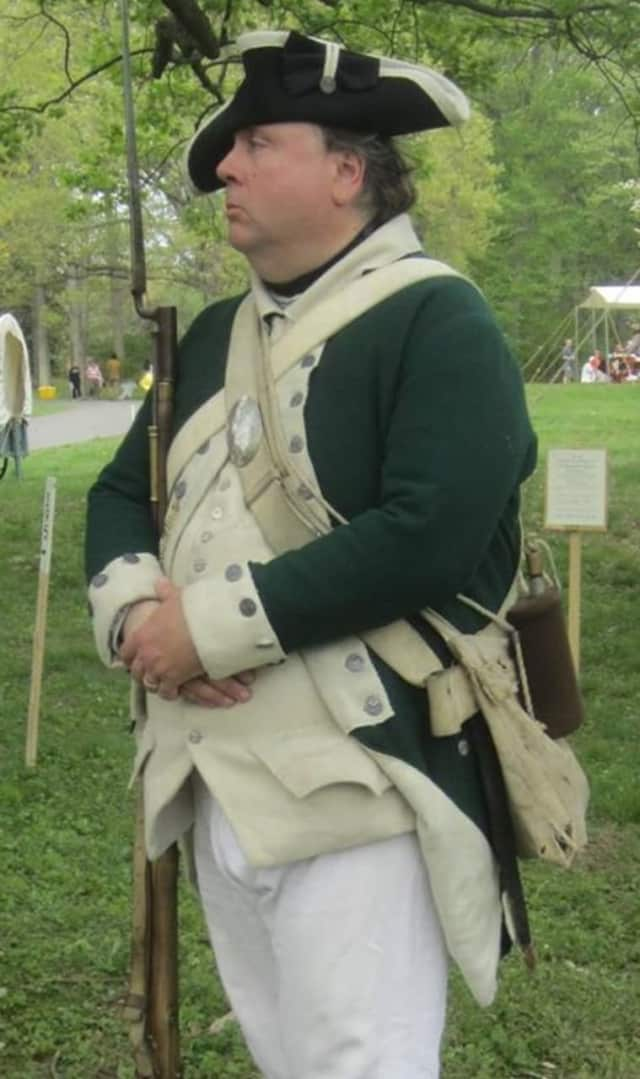 Author Todd Braisted of the Bergen County Historial Society. He is a re-enactor with the 4th Battalion, New Jersey Volunteers.