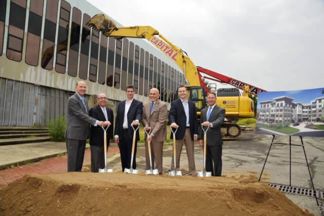 Seth Mandelbaum, Frank McCullough,  David Sands, Ron Belmont; Bryan Oos and Rob Astorino at the Toll Brothers groundbreaking.