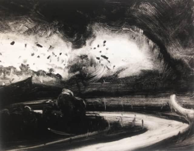 Tornado Winds and Bend in Road by Kellyann Monaghan