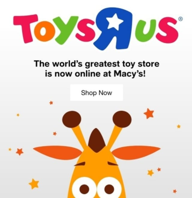 """Toys """"R"""" Us will be rolling out shop-in-shops at 400 Macy's stores in 2022."""
