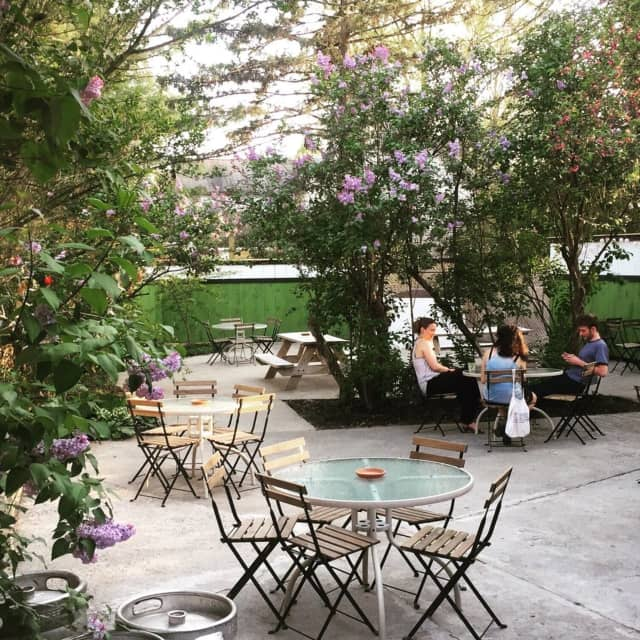 Traghaven in Tivoli has a pretty outdoor dining patio that doubles as a beer garden during the warmer months.
