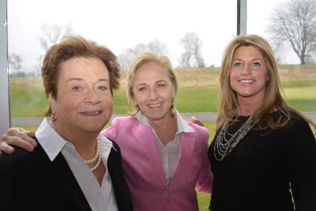 """(From L to R) Fairfield residents Pauline """"Pawnee"""" Biggs, Karen Izzo and Jill Fitzburgh are co-chairs of the Planning Council of The Center for Family Justice's first Gratitude Gala."""
