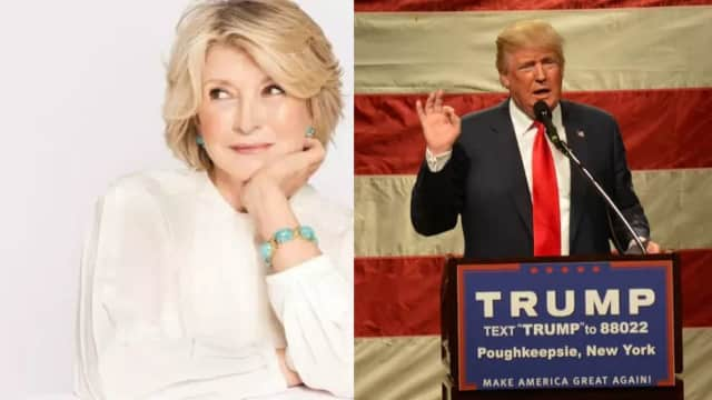 Martha Stewart and Donald Trump.