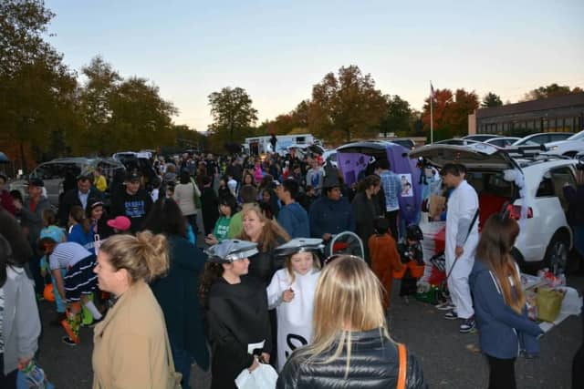 """Families at last year's """"Trunk or Treat"""" sponsored by the Northern Valley Coalition."""