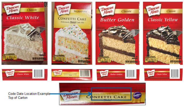 Four varieties of Duncan Hines cake mixes have been recalled.