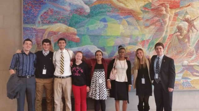 Six Briarcliff High School students recently attended the United Nations Rotary Day in New York City