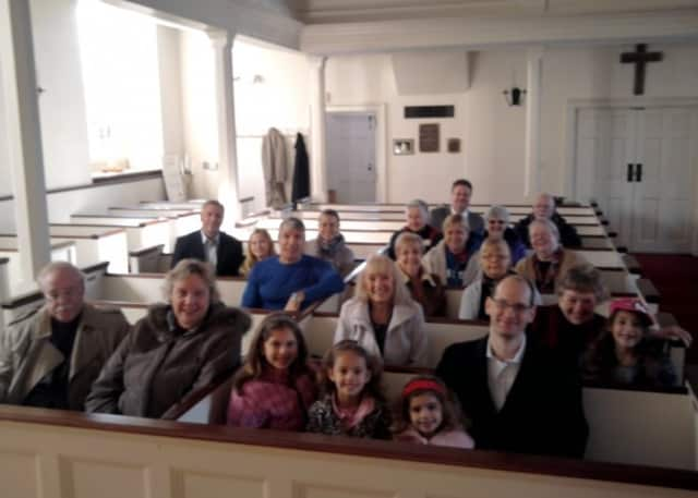 Some of the congregation at Old Stone Church
