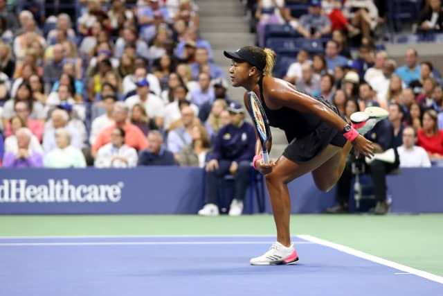Naomi Osaka on her way to the women's singles championship at the US Open last year. Photograph by Darren Carroll. Courtesy USTA.