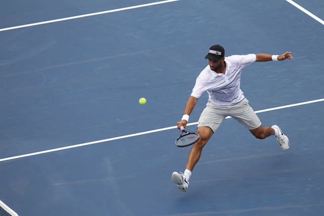 James Blake at the US Open in 2012. Photograph courtesy USTA.