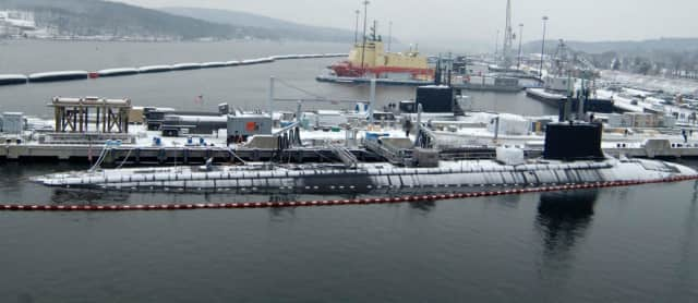 The Naval Submarine Base New London, about 30 miles away from where a Russian spy ship was spotted Wednesday morning, according to Fox News.