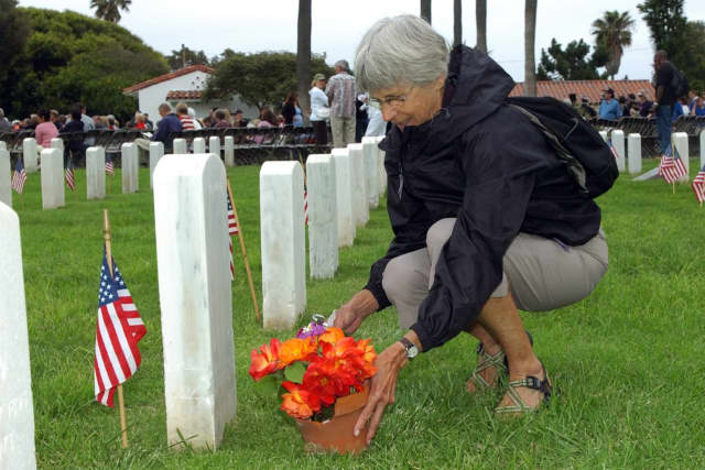 Veterans' grave markers were reportedly removed from headstones at a North Arlington cemetery.
