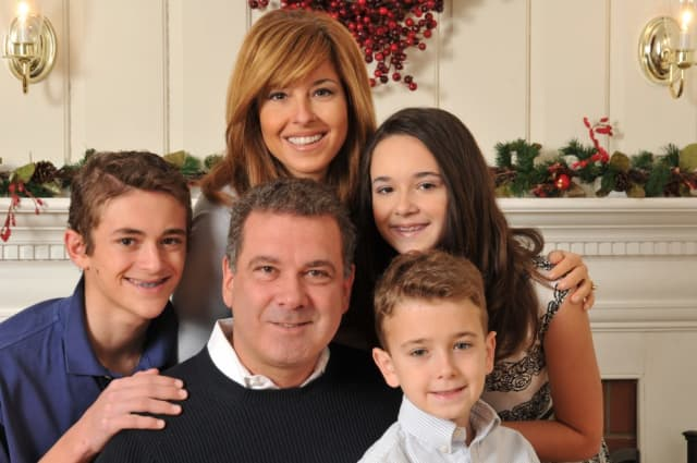 Mike Spano and Mary Calvi with their children, Michael, Alexandra and Christopher. Photo courtesy of the Spano family.