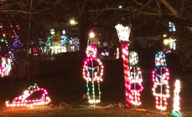 Montvale firefighters decorate the borough each year before Santa's arrival no Christmas Eve.