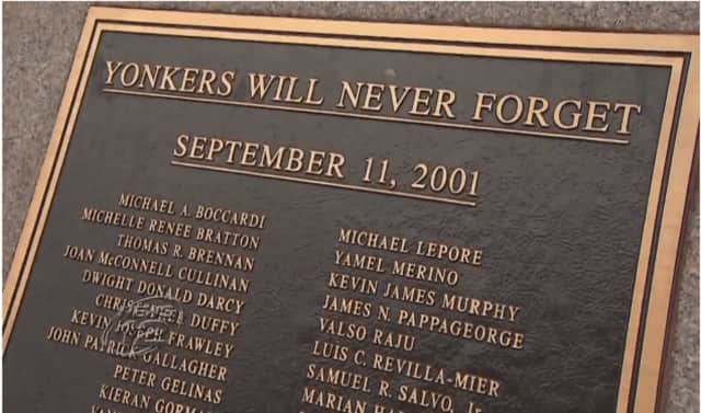 Yonkers honored their residents and others killed Sept. 11, 2001 during a ceremony Sunday, the 15th anniversary of the terrorist attacks, News 12 Westchester reported.