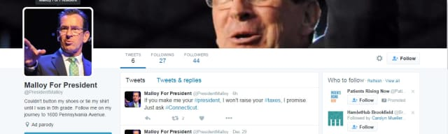 It is unclear who created this Twitter page that reportedly showed up on the internet Monday.