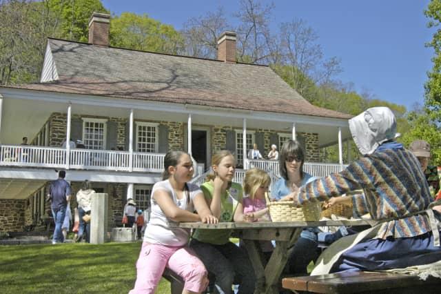 Tours of the Van Cortlandt Manor in progress.