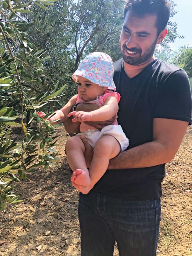 Val Morano Sagliocco at the Morano family estate in Calabria with daughter Sofia. Courtesy Val Morano Sagliocco.
