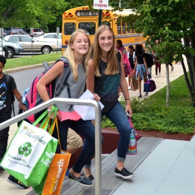 Students entering Valhalla High School to begin the 2016-2017 school year. Valhalla residents passed a $9.9 million capital construction bond issue Thursday for projects across the school district.