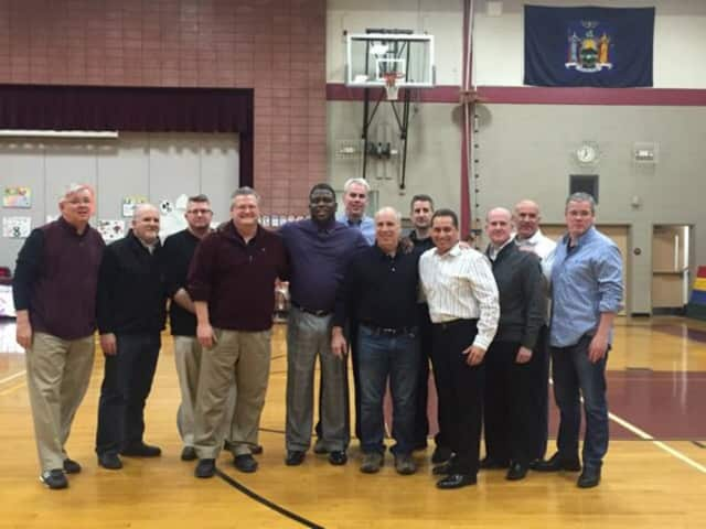 Valhalla alumni and former basketball players from the late 1970s and early 1980s were at the game where the Valhalla Vikings beat Pleasantville High School by one point at the buzzer.