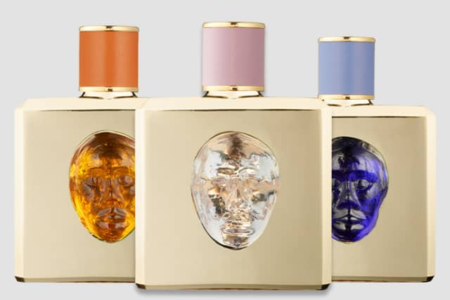 """Alessandrite I, in travel and full size, is a heady aldehydic floral that's part of Valmont's new """"Storie Veneziane"""" collection. Images courtesy Valmont."""