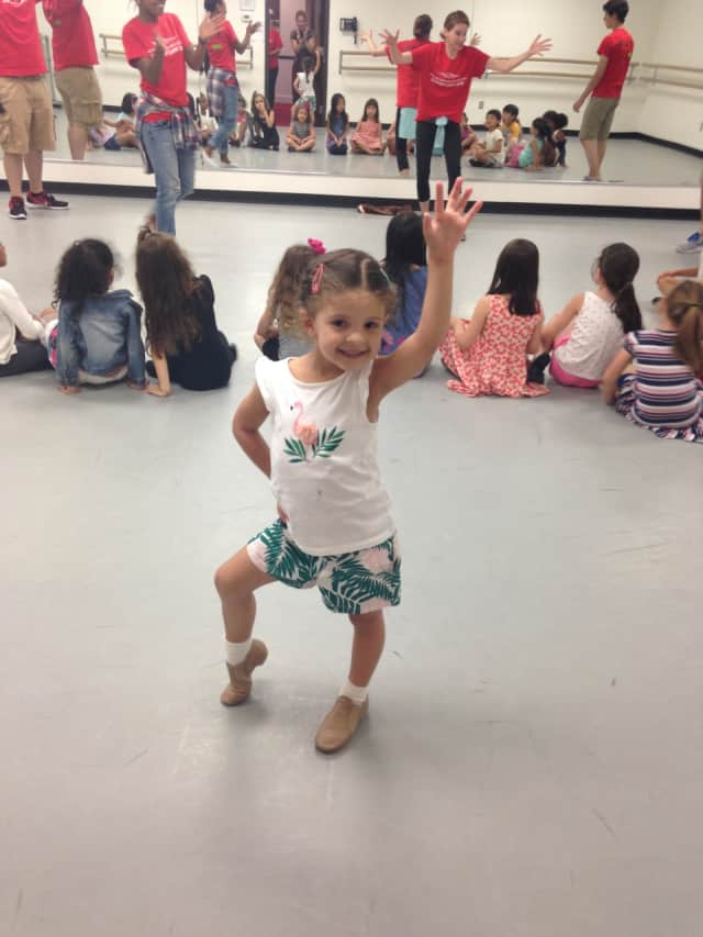 Veronica Guadalupe, 5, taking part in bergenPAC's Performing Arts School.