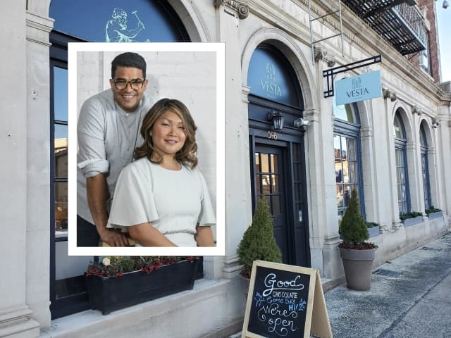Roger Rodriguez and his wife Julia Choi-Rodriguez are bringing Vesta Chocolate to Upper Montclair.