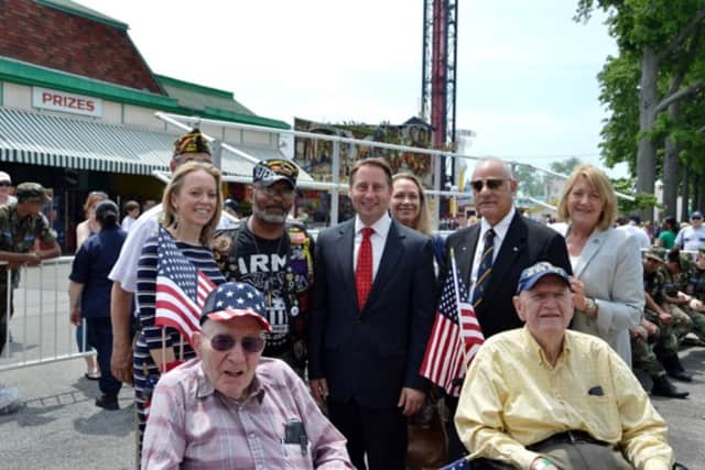 Weschester County Executive Rob Astorino attended a special veterans event at Rye Playland for Memorial Day.