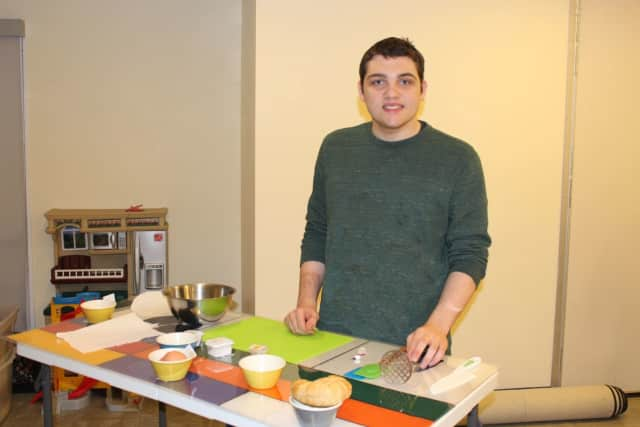 """Vincent Bruzzese during the Darien YMCA """"Visual Mixing Bowl"""" program for individuals with Special Needs."""