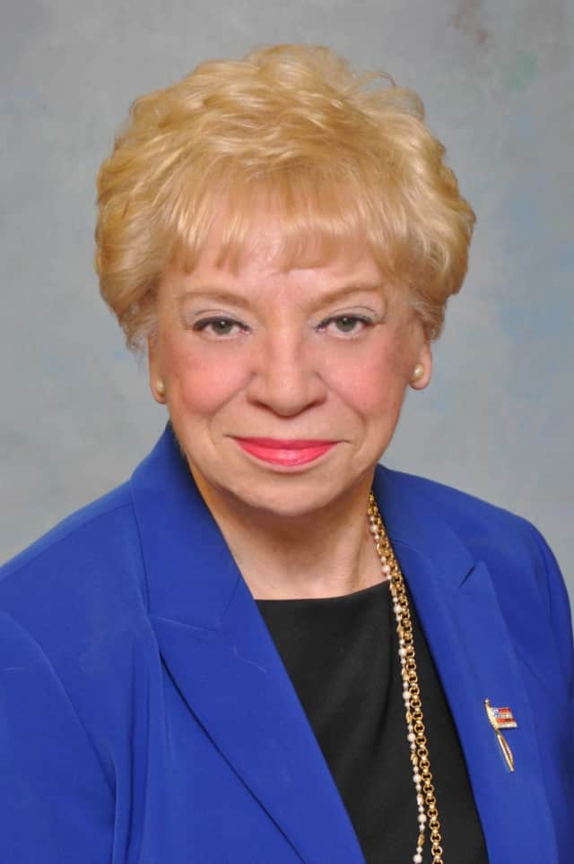 Bergen County Freeholder Chairwoman Joan Voss ordered the man removed.