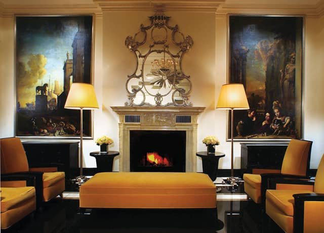 The sitting room of The Carlyle, A Rosewood Hotel, in Manhattan.