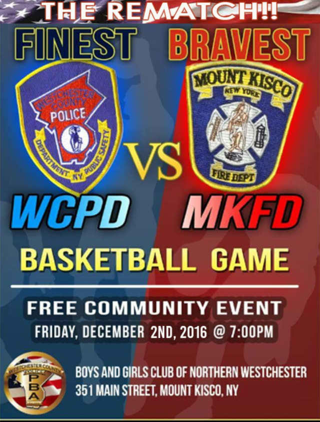 Mount Kisco firefighters and Westchester County police will play against each other for the second-annual basketball game.