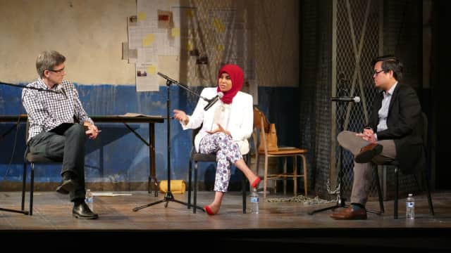"""One of the community events in Westport Country Playhouse's """"Money, Power, and Belief: Reflections on 'The Invisible Hand'"""" was a symposium on """"The Hands at Play: Culture, Politics, and Grievance in 'The Invisible Hand.'"""""""