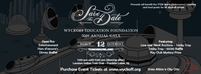 The Wyckoff Education Foundation will have its annual gala March 12 at the Indian Trail Club in Franklin Lakes.