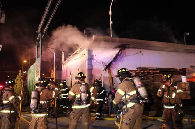 The smoky Wallington blaze took a half hour to bring under control.