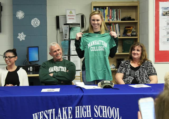 Westlake High's Megan O'Connor will attend and play soccer for Manhattan College in the fall.