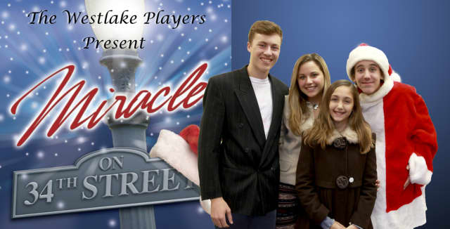 """From left, Xander Warne, Carina Papa, Gianna Agosto and Dean Kapica appear in """"Miracle on 34th Street."""""""