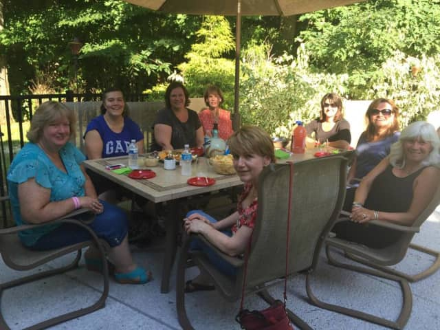 Members of the Women In Networking group at a summer social.
