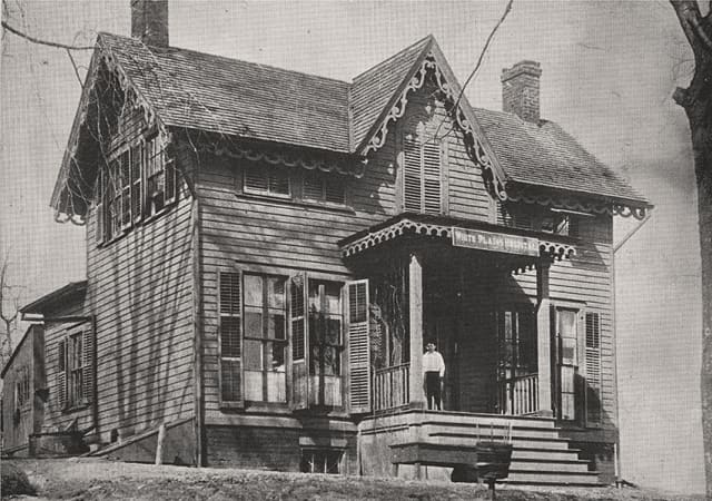This small house in the Chatterton Hill section of White Plains marks the beginning of White Plains Hospital 125 years ago. Photograph courtesy White Plains Hospital.
