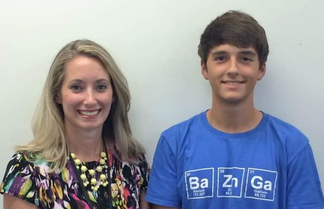 Alex Pirola with Jennifer Gadaleta, his guidance counselor