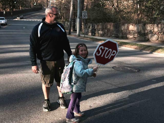 Students walk to school in Irvington