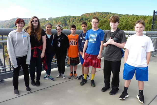 Briarcliff Middle School's eighth-grade students connected history and science when they visisted the Walkway Over the Hudson in Poughkeepsie.