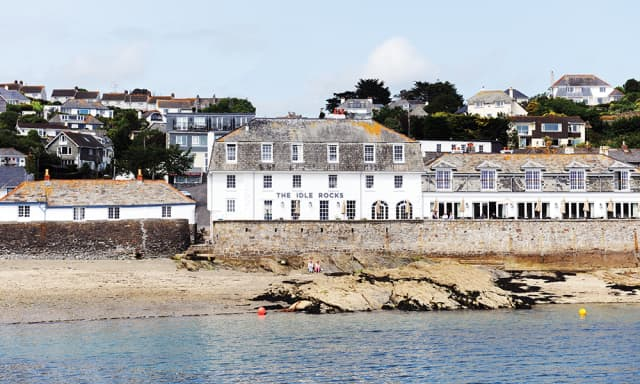 The Idle Rocks, St. Mawes, from the harbor. Courtesy The Idle Rocks.