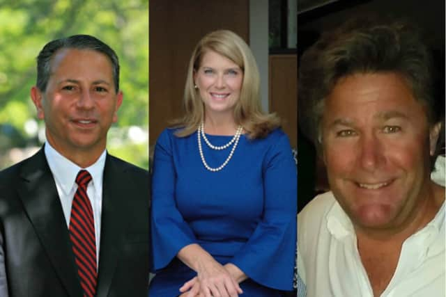 Darien First Selectman candidates Rob Werner, Jayme Stevenson and Chris Noe