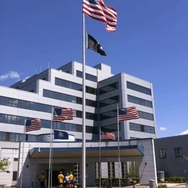 The West Haven Veteran's Hospital, where the explosion took place.