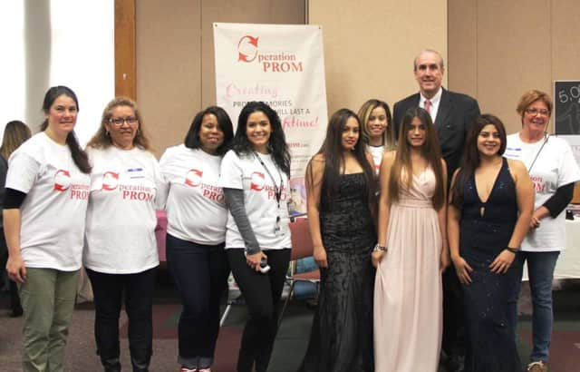 Westchester Deputy County Executive Kevin Plunkett visited the Operation Prom dress giveaway launch event on Friday.