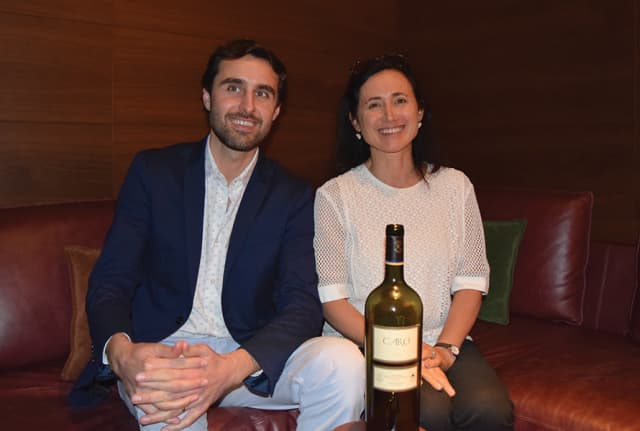Laura Catena and winemaker Fernando Buscema of Bodegas Caro in Manhattan recently. Photograph by Doug Paulding.