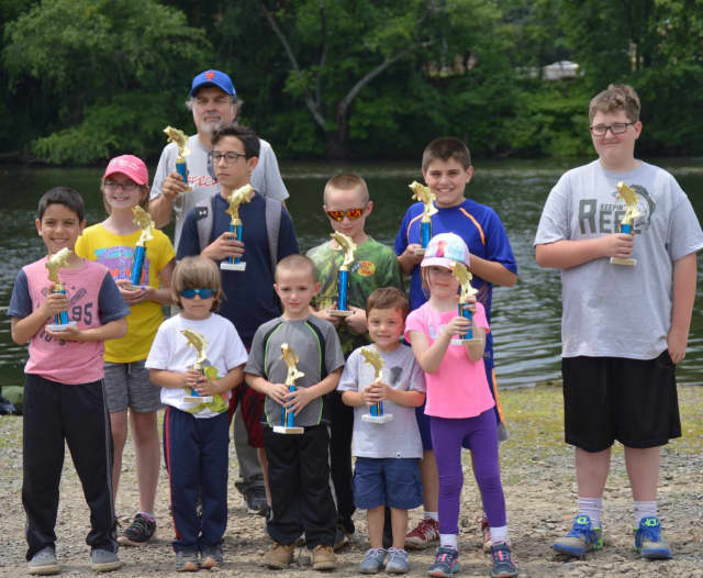 The winners of Elmwood Park's fishing derby
