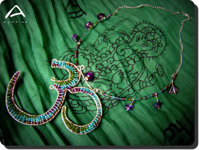 Participants in the class will create their own wire pendant and attach it to a simple cord choker-style necklace.