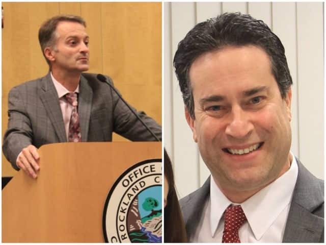 Rockland Legislator Jay Hood Jr., D-Haverstraw, left, and Legislature Chairman Alden H. Wolfe, D-Montebello, both praised a recent bipartisan vote to ensure that the county's youth jobs program is funded through the end of the year.