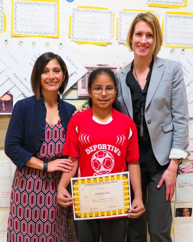 Washington School fifth-grader Stephanie Sulca mastered the WordMaster Challenge